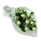 Kiev, Bouquet  of roses decorated with verdure